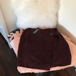 Boohoo wrap skirt